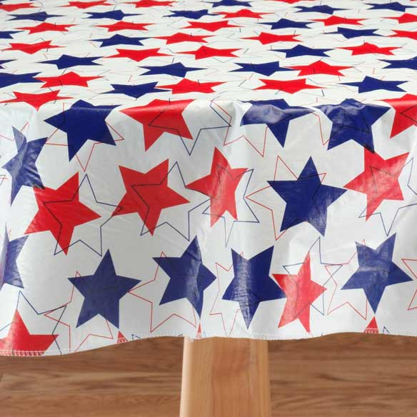 Patriotic Stars Table Cloth - View 2
