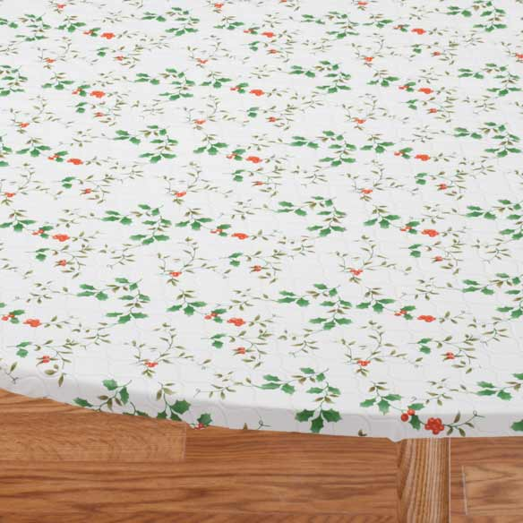 Winterberry Elasticized Table Cover - View 2