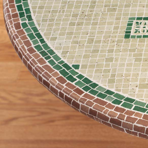 Fiorenza Mosaic Elasticized Table Cover - View 3