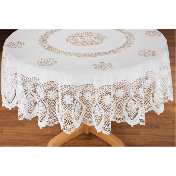 Vinyl Lace Tablecloth - View 3