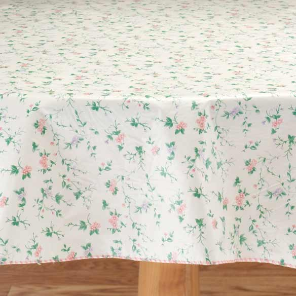 Mini Floral Vinyl Table Cover - View 2