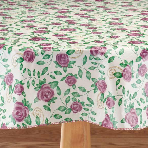 Purple Rose Vinyl Table Cover - View 2