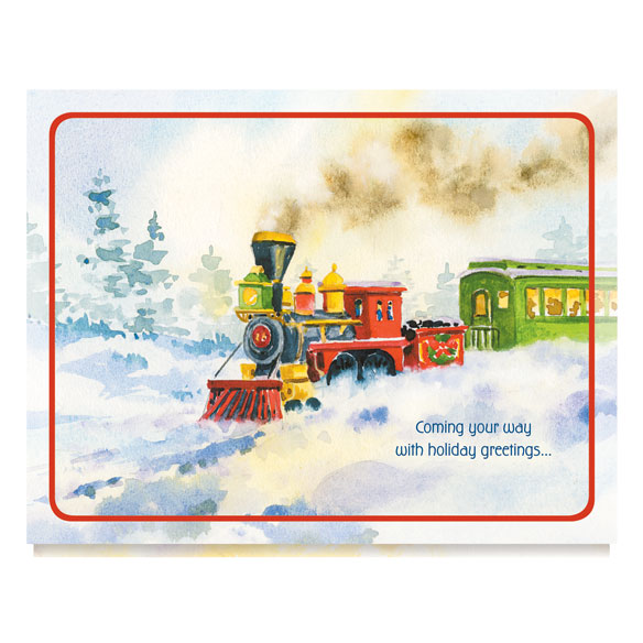 Old Time Train Station Unpersonalized Card Set of 20 - View 2