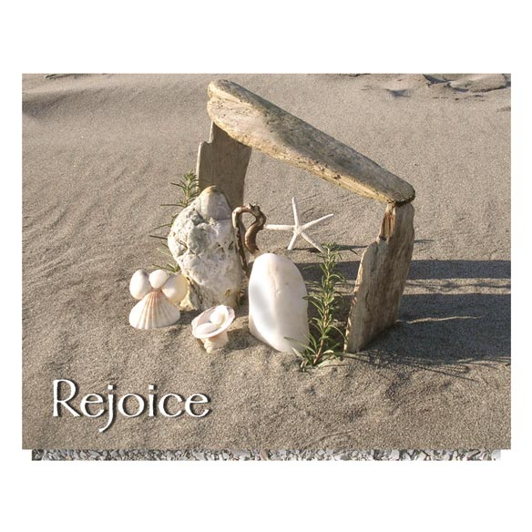 Seashore Nativity Unpersonalized Card Set of 20