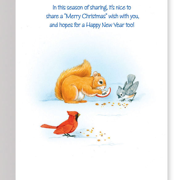 Sharing the Season Unpersonalized Card Set of 20 - View 3