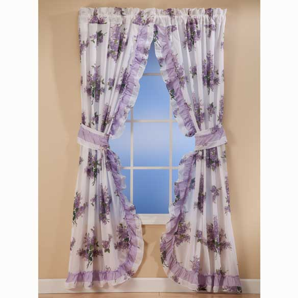 Lilac Ruffle Curtains - View 2
