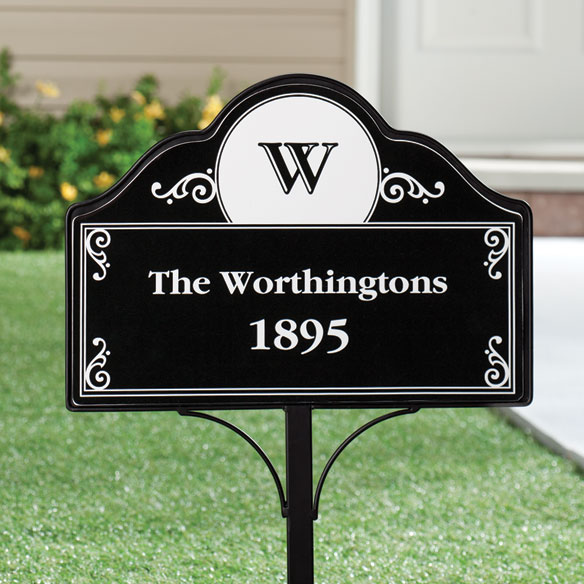 Personalized Address Magnetic Sign - View 2