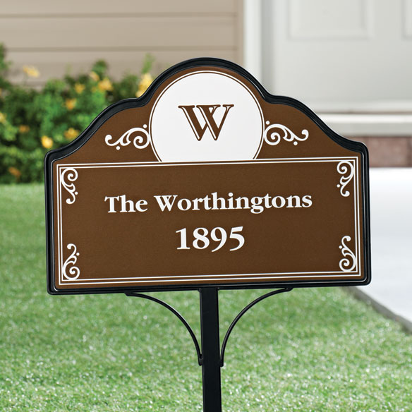 Personalized Address Magnetic Sign - View 4