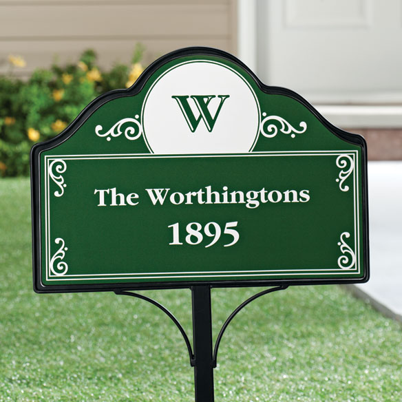 Personalized Address Magnetic Sign - View 5