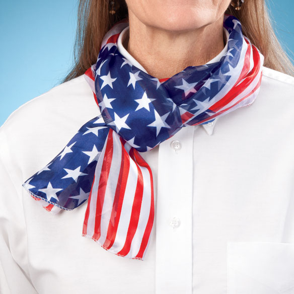 USA Patriotic Scarf - View 2