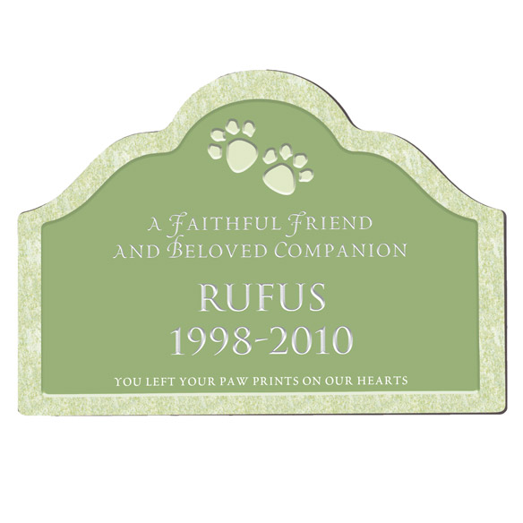 Personalized Pet Memorial Magnetic Sign - View 2