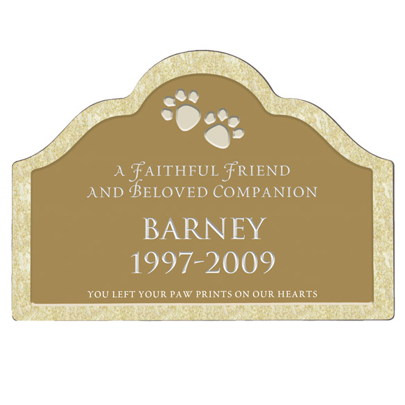 Personalized Pet Memorial Magnetic Sign - View 4