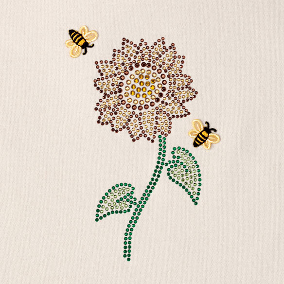 Jeweled Sunflower and Bee Shirt - View 2