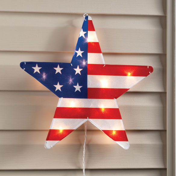 "American Lighted Star 16"" - View 2"