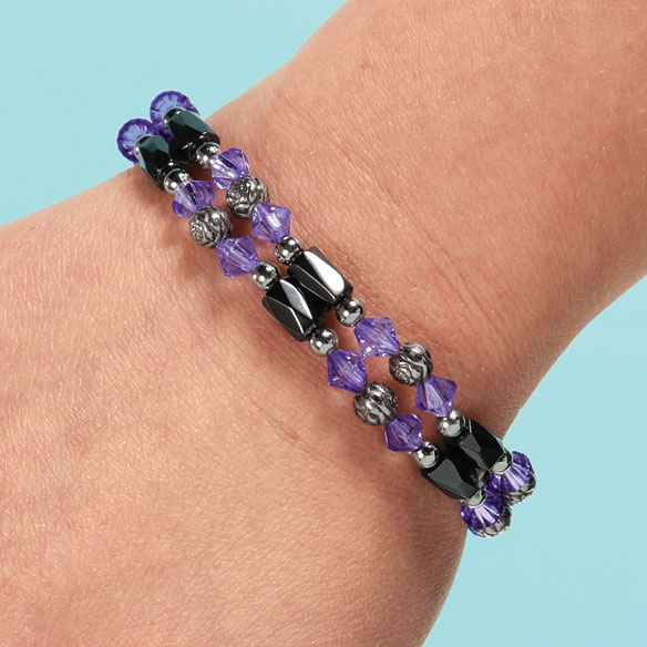 Rose Hematite Bracelets, Set of 2 - View 2