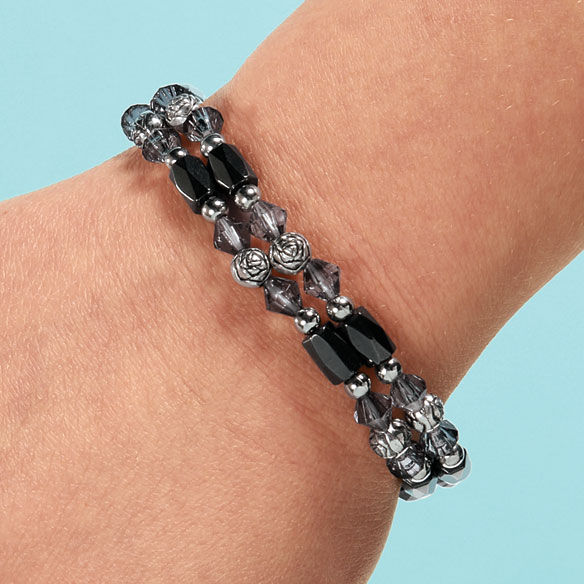 Rose Hematite Bracelets, Set of 2 - View 3