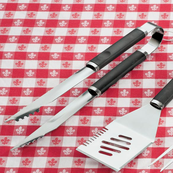 3 Piece Stainless Steel BBQ Tool Set - View 2