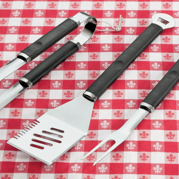 3 Piece Stainless Steel BBQ Tool Set - View 3