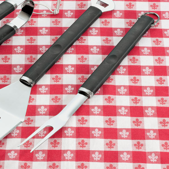 3 Piece Stainless Steel BBQ Tool Set - View 4