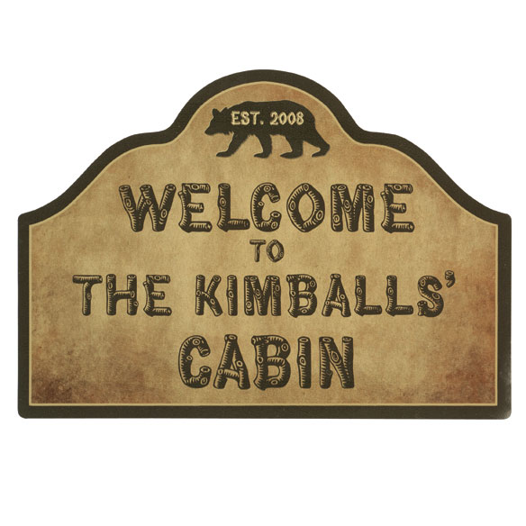 Personalized Cabin Magnetic Yard Sign - View 2