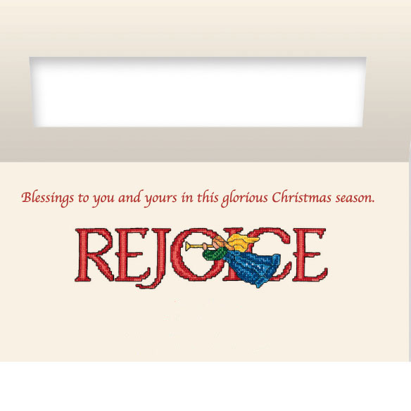 Rejoice Christian Christmas Card Set of 20 - View 3