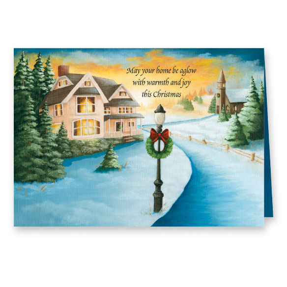 Winter Path Christmas Card Set of 20 - View 2