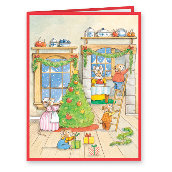Holiday Thyme Christmas Card Set of 20 - View 2