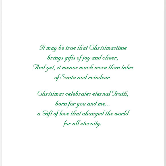 Santa's Prayer Christian Christmas Card Set of 20 - View 4