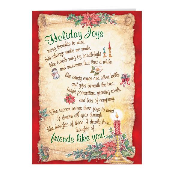 Holiday Joys Christmas Card Set of 20 - View 2
