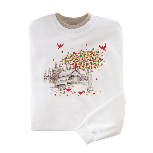 Cardinal Foliage Sweatshirt - View 2