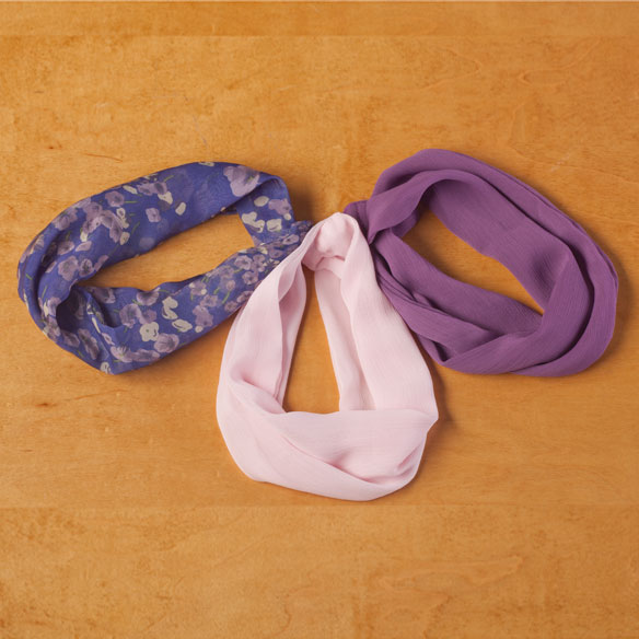 Pansy Floral Neck Cowls Set of 3 - View 2