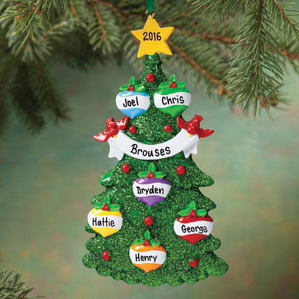 Personalized Glitter Tree Ornament - View 4