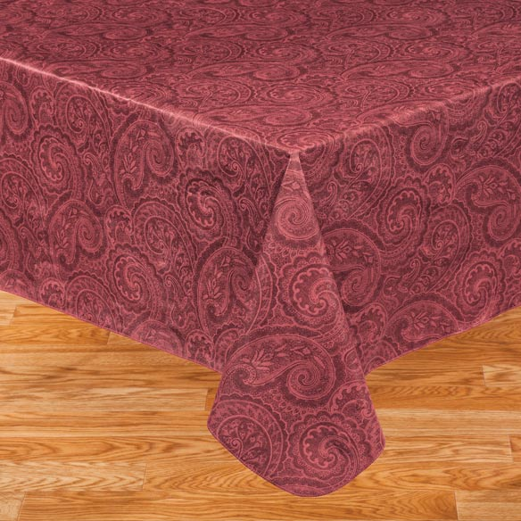 Paisley Vinyl Table Cover - View 3