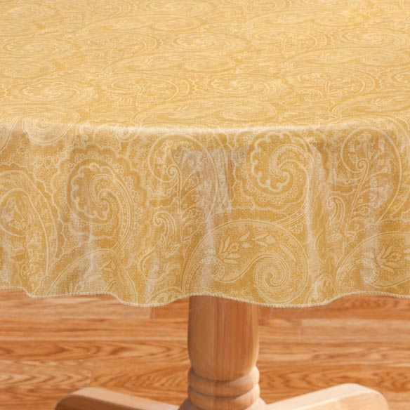 Paisley Vinyl Table Cover - View 4