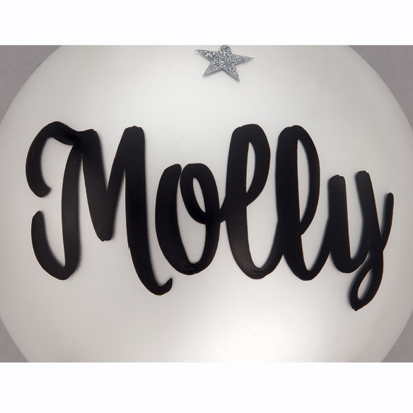 Personalized Frosted Glass Dance Ornament - View 2