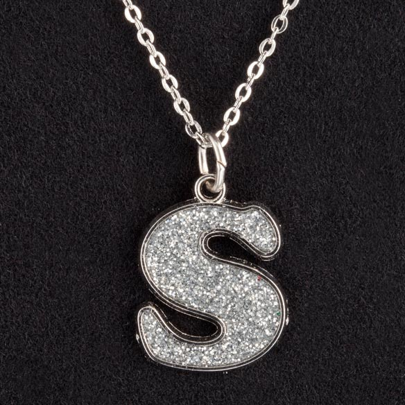 Glitter Initial Necklace - View 3