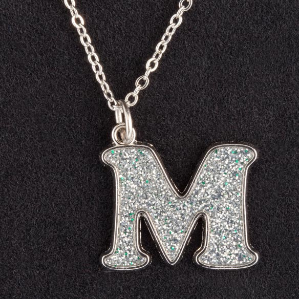 Glitter Initial Necklace - View 4