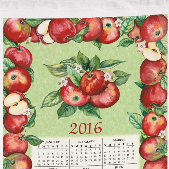 Personalized Apples Calendar Towel - View 2