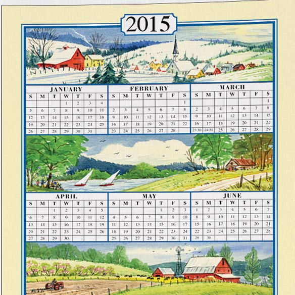 Personalized Four Seasons Calendar Towel - View 2