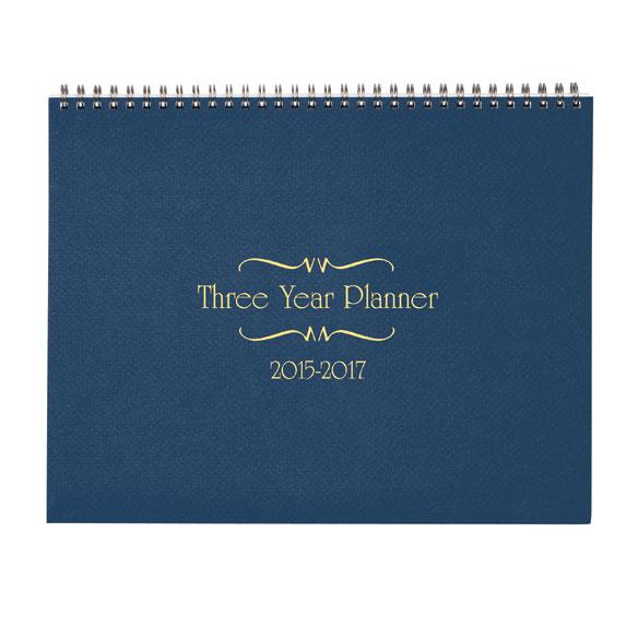 3 Year Calendar Diary 2015-2017 - View 2