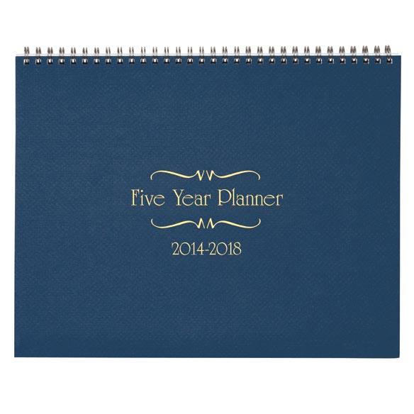 5 Year Calendar Diary 2014-2018 - View 2