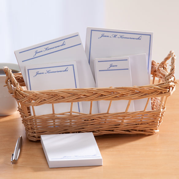 Personalized Classic Basketful of Notepads - View 4