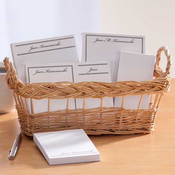 Personalized Classic Basketful of Notepads - View 5