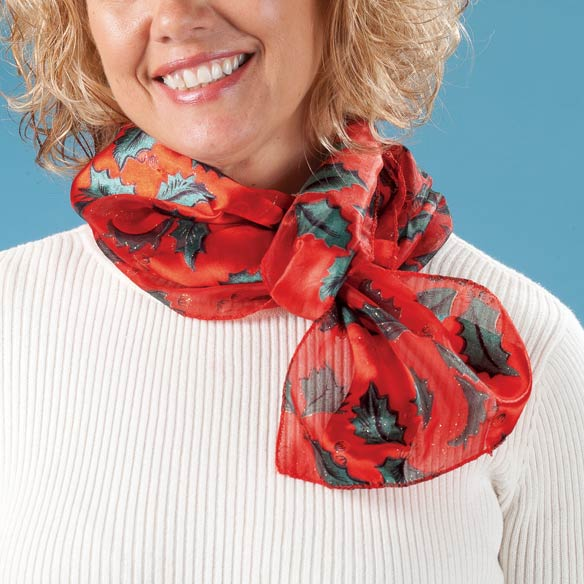Holiday Holly Scarf - View 2