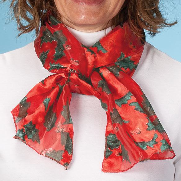Holiday Holly Scarf - View 3