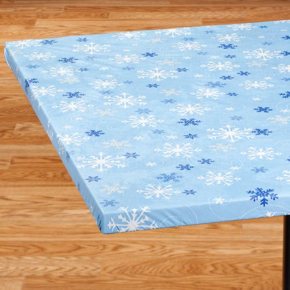Snowflake Banquet Table Cover - View 2