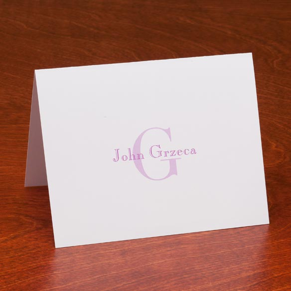 Personalized Block Note Cards Set of 25 - View 4