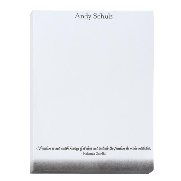 Personalized Inspirational Notepads Set of 4 - View 2