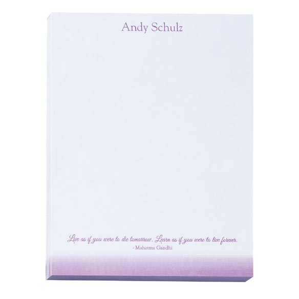 Personalized Inspirational Notepads Set of 4 - View 4