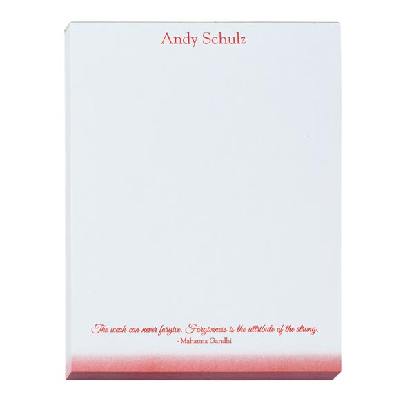 Personalized Inspirational Notepads Set of 4 - View 5